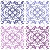 Floral vector seamless tiled pattern in ethnic style. Stock Photography