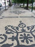 Tiled sidewalk Royalty Free Stock Images