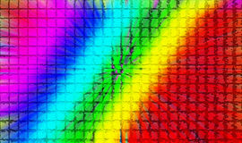 Tiled spectrum background. Abstract background of colorful neon tiles Stock Photo