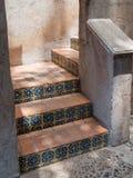 Tiled stairway, Tlaquepaque in Sedona, Arizona Royalty Free Stock Photography
