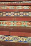 Tiled steps stock photo