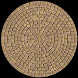 Tiled stone. Paving tile texture based on 3D-rendered image royalty free illustration