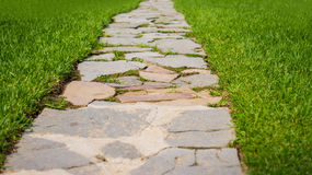 Tiled stone walkway Stock Images