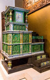 Tiled stove (with two tiles dated 1577), made in Villingen, Germany by Hans Kraut. Victoria and Albert museum. London, UK Stock Photography