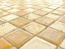 Tiled table top. Ceramic glazed tiles table top Stock Photography