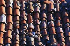 Tiled taklägger arkivfoton