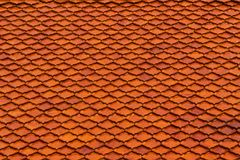 Tiled on temple roof Royalty Free Stock Photo