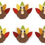 Tiled turkeys Stock Images