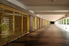 Tiled walkway Royalty Free Stock Photos