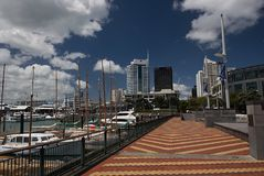 Tiled Walkway at the Auckland Viaduct Harbor Stock Images
