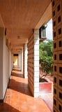 Tiled Walkway Outside Tropical Hotel Doors Stock Photos