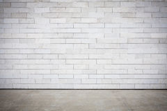 Tiled wall. With a blank white bricks Stock Photography