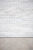 Tiled wall. With a blank white bricks Stock Photos