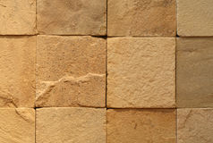 Tiled wall. A section of wall made of roughly finished tiles Royalty Free Stock Image