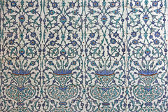 Tiled wall, Harem, Topkapi Palace Royalty Free Stock Images