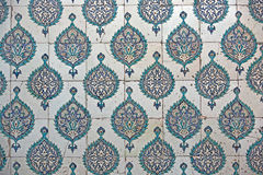 Tiled wall, Harem, Topkapi Palace Stock Photography