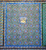 Tiled wall of Patio Principal  in La Casa De Pilatos, Seville ,S Stock Images