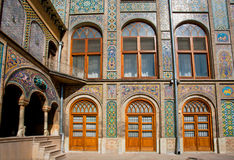 Tiled walls with Persian patterns of the royal palace Golestan Royalty Free Stock Photography