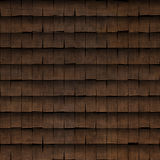 Tiled wood shingle roof texture Royalty Free Stock Image