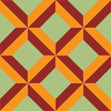 Tiled x. In terra and green tones Stock Image