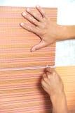 Tiler hands at home renovation work Stock Photography