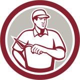 Tiler Plasterer Mason Masonry Worker Circle stock illustrationer