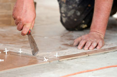 Tiler at work Royalty Free Stock Images