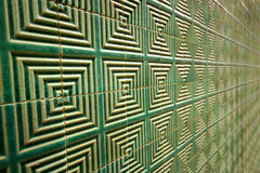 Abstract tiled wall Stock Images