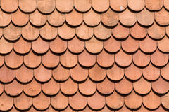 Tiles. A background image of clay tiles on a roof Stock Image