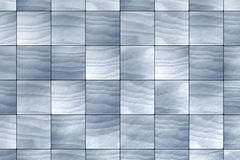 Tiles. Blue tiles background - 3D render Royalty Free Stock Photography