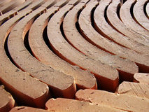 Tiles. Detail of a lot of stacked roof tiles Royalty Free Stock Image