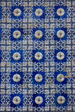 Tiles. Typical Portuguese ceramic tiles coloured in blue Stock Photo