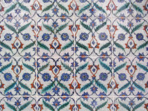 Tiles. Turkish tiles in Topkapi palace, Istanbul, Turkey royalty free stock photos