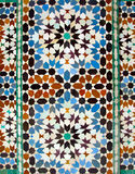 Tiles at Ali Ben Youssef Madrassa in Marrakech royalty free stock image