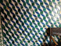 Tiles. Anciennt geometry tiles Royalty Free Stock Photography