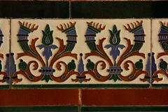Tiles. Andalusian Tiles decorate a wall in the city of Cadiz, Spain Stock Photography