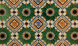 Tiles. Andalusian Tiles decorate a wall in the city of Cadiz, Spain stock photos