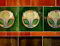 tiles, art-deco Stock Photography
