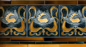 tiles, art nouveau Stock Photo