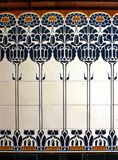 tiles, art nouveau Royalty Free Stock Images