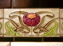 tiles, art nouveau Stock Images