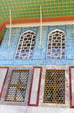 Tiles in Baghdad Kiosk situated in the Topkapi Palace Royalty Free Stock Image