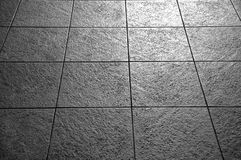 Tiles in black and white Royalty Free Stock Image