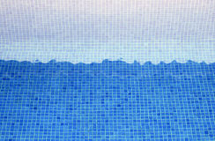 Tiles blue o a pool Stock Image