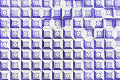 Tiles with blue spots Royalty Free Stock Image