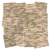 Tiles of a brick wall Stock Images