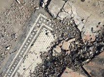 Tiles. Broken tiles in an abandoned building stock photos
