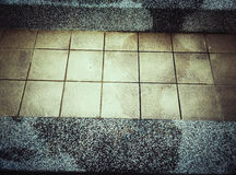 Tiles and cement ground pattern. Royalty Free Stock Photos