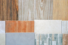 Tiles. Ceramic tiles in various patterns and colors Stock Images