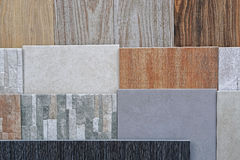 Tiles. Ceramic tiles in various patterns and earth colors Stock Image